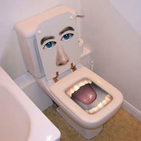 zapchana toaleta